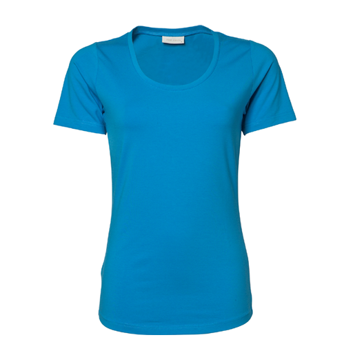 T-shirt TeeJays women stretch T 195 gr  Azure blauw