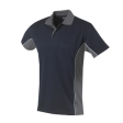 Poloshirt Workman Bi-colour k/m navy met grijs