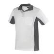 Poloshirt Workman Bi-colour k/m wit met grijs