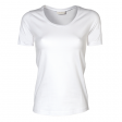 T-shirt TeeJays women stretch T 195 gr  wit