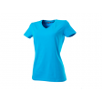 T-shirt Rom88 TVT190 V-hals Dames turqouise