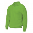 Polosweater Rom88 PSB280 met boord lime