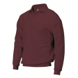 Polosweater Rom88 PSB280 met boord wijn rood